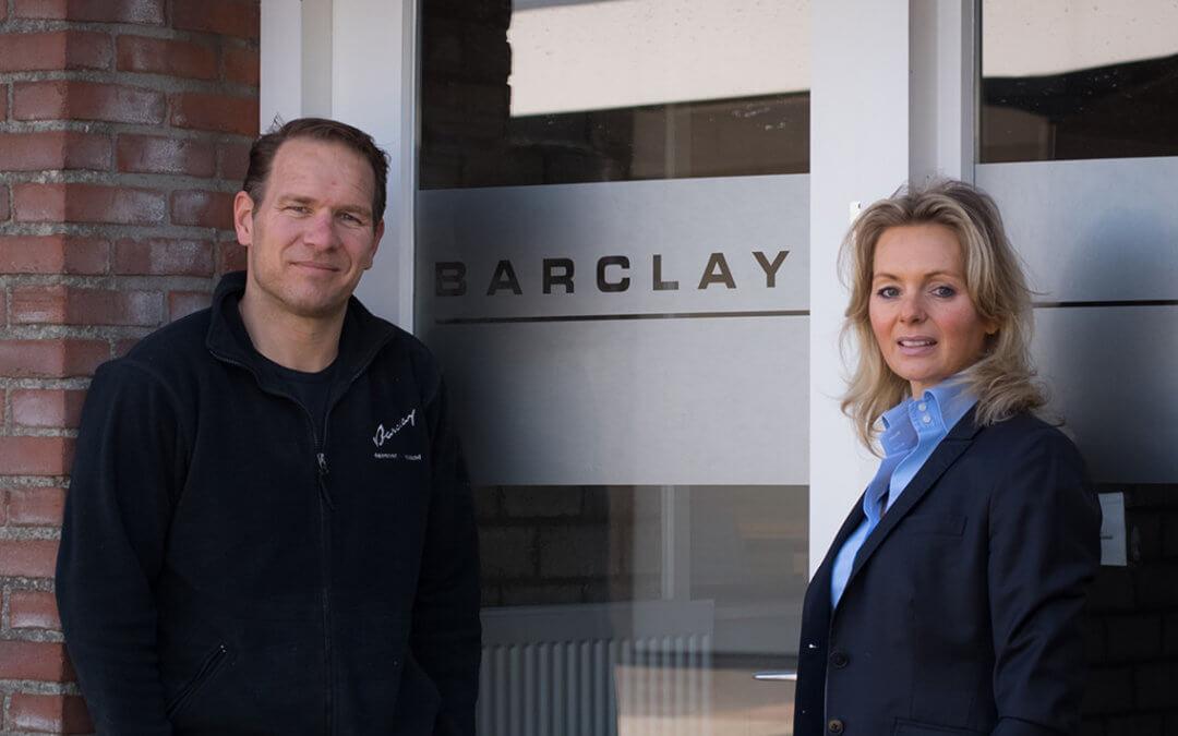 Barclay gaat zelfstandig verder