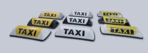 Barclay toplight, daklichten en taxiborden