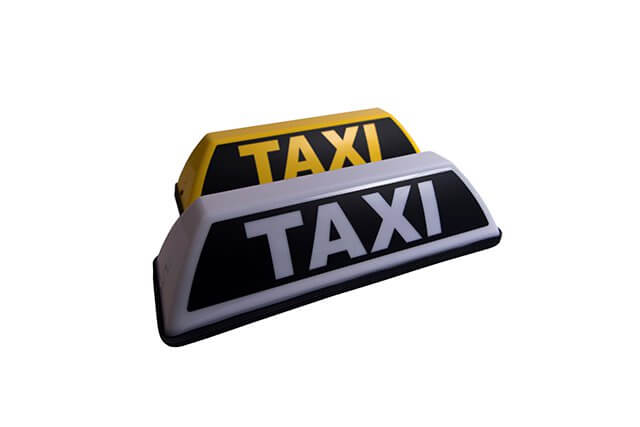 Barcly Toplight, taxibord - daklicht barclay mini taxi